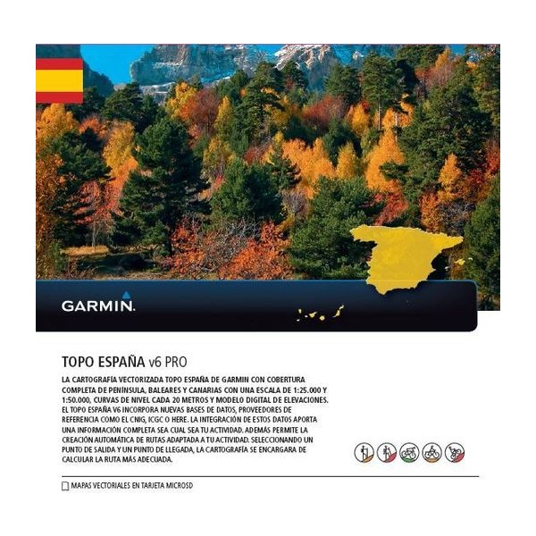 Garnin Topo Espana v6 PRO microSD/SD card