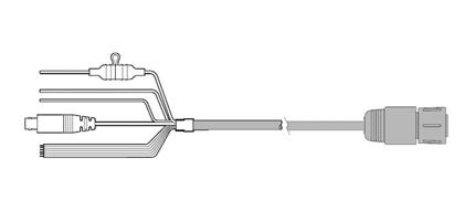 Raymarine e-serien lige strømkabel